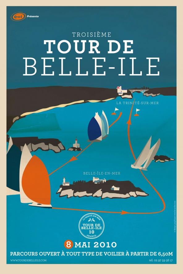 Les affiches du tour de belle ile tour de belle ile - Office de tourisme de belle ile en mer ...