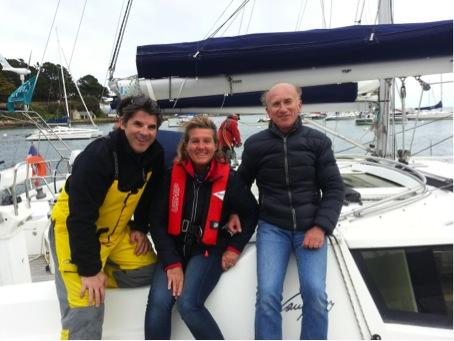 Guillaume (à gauche), Caroline et François.